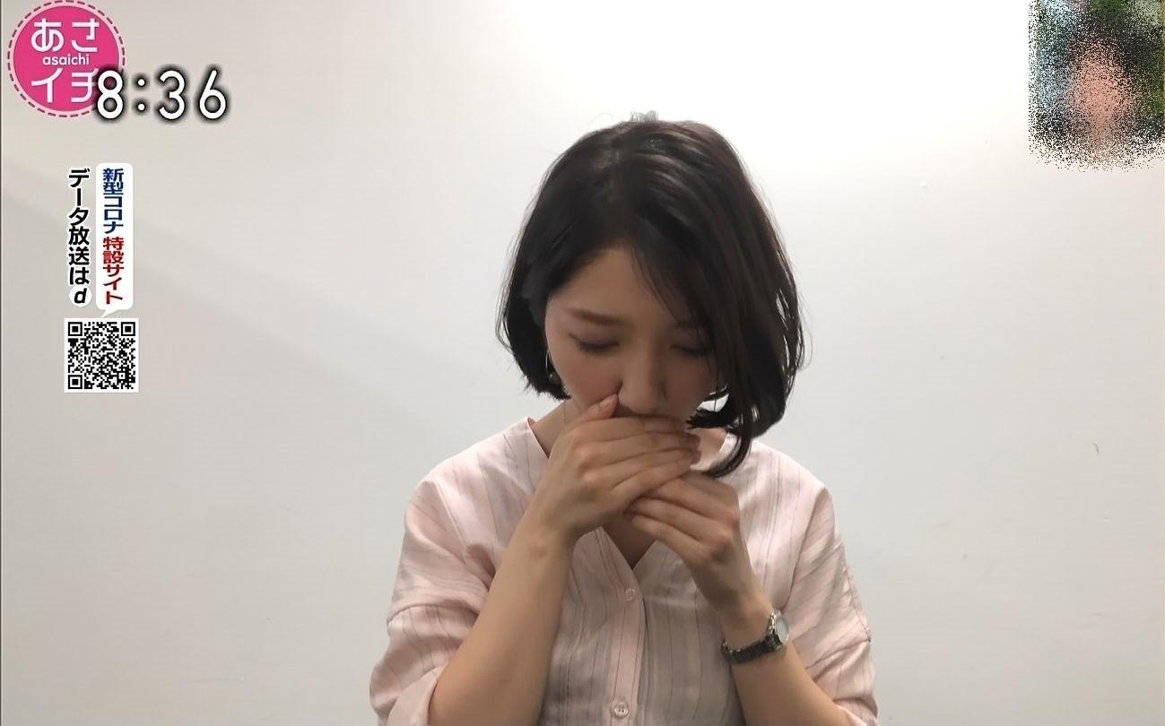 保里小百合の唾液採取 (4)