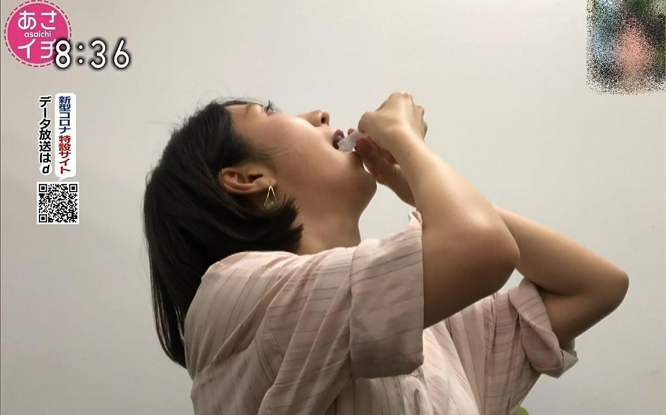 保里小百合の唾液採取 (2)