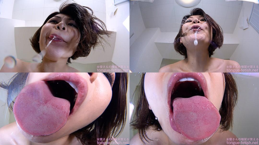 推川ゆうりのエロ長い舌・唾・口の臭い堪能コース1